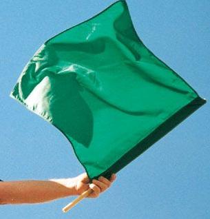 Green Racing Flags